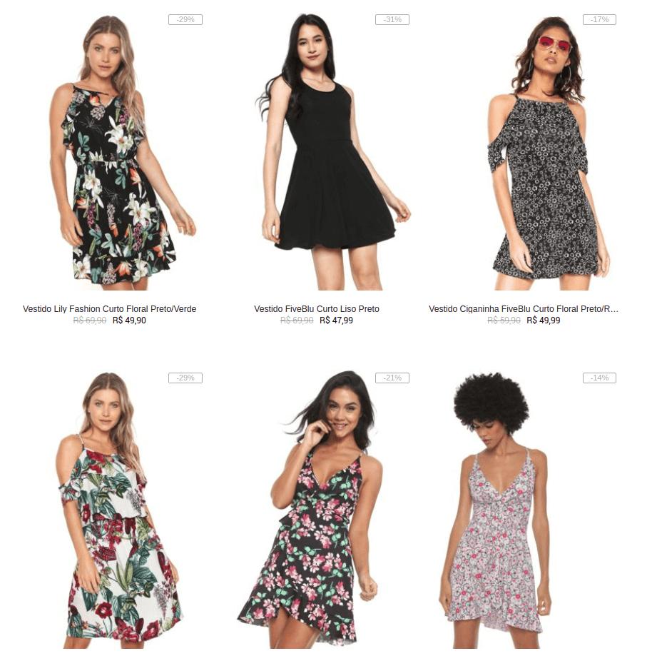 vestidos - Kanui - Leve 3 Vestidos por R$99