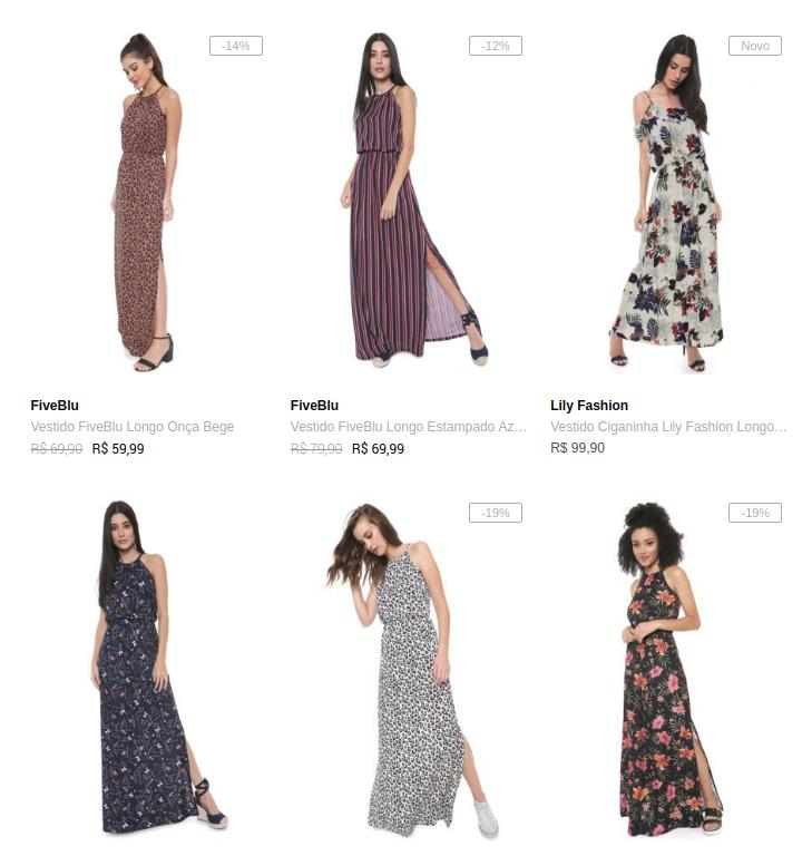 3 vestidos - Dafiti - Escolha 3 Vestidos na Dafiti por R$149