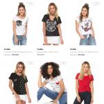camisas femininas 150x150 - Dafiti - 3 Blusas e Camisas por R$ 99