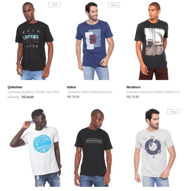 3 camisetas 99 - Escolha 3 Camisetas na Dafiti por R$99