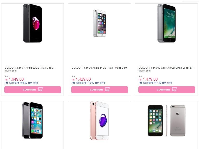 iphone usado - Carrefour - iPhones usados a partir de R$619