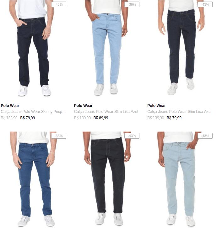 3CAL199M - Dafiti - Escolha 3 Calças Jeans Masculinas por R$199 - 3CAL199M