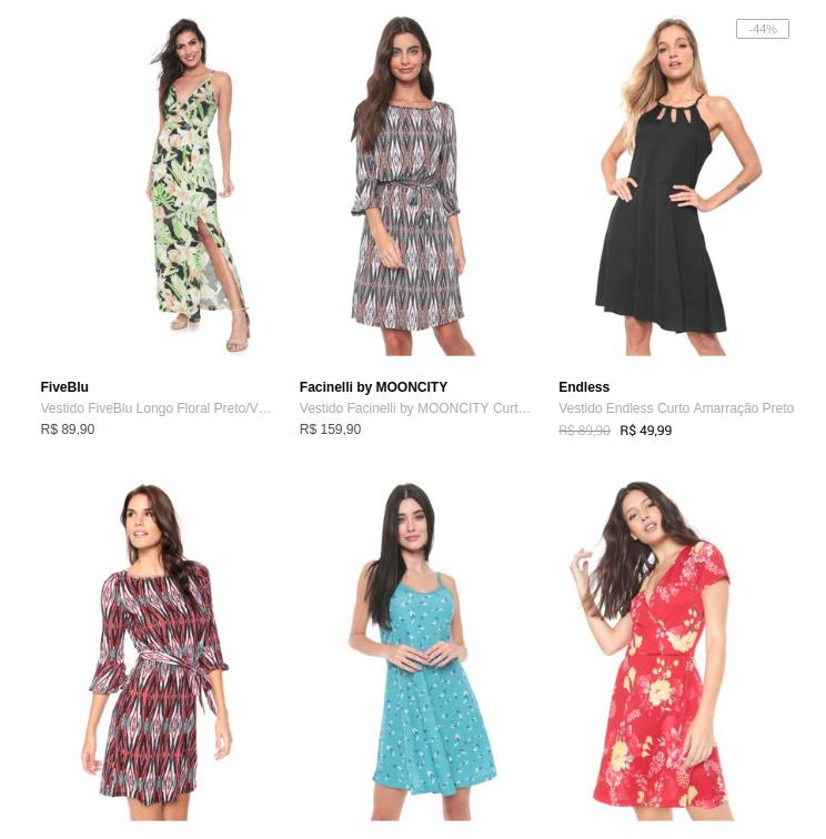 3 vestidos 99 - Escolha 3 Vestidos por R$99 na Dafiti