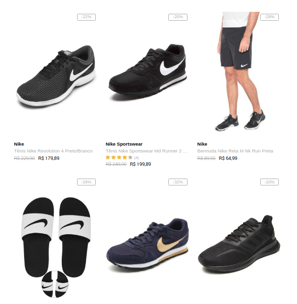 adidas nike - Dafiti - Nike e Adidas - 20%OFF