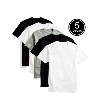 kit 5 camisetas - Dafiti - Kit 5 Camisetas - R$89,90