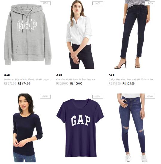 gap feminino - Dafiti - GAP Feminino até 50% OFF