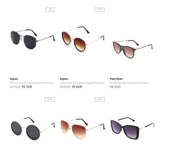 oculos femininos - Dafiti - Óculos Feminino a partir de R$54,99