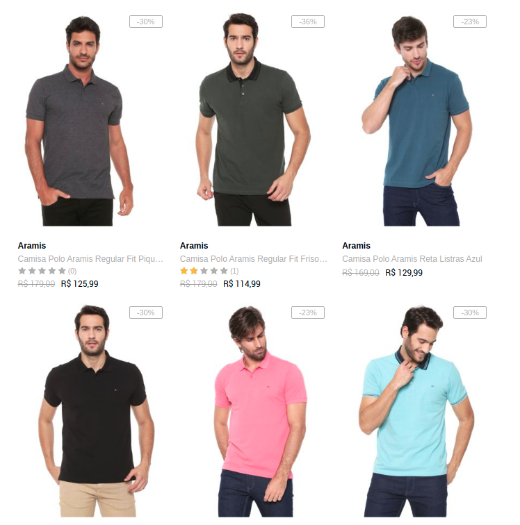 polo top marcas - Dafiti - Polo Top Marcas - Até 40% OFF