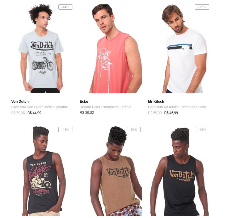 3CA99M - Cupom: 3CA99M - 3 Camisetas por R$99 na Dafiti