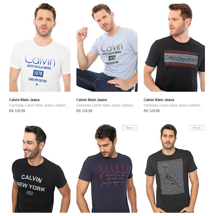 2CAMI149M - Dafiti - 2 Camisetas Calvin Klein por R$149
