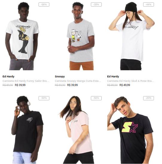 3CA99M - Dafiti - 3 Camisetas por R$99 - 3CA99M