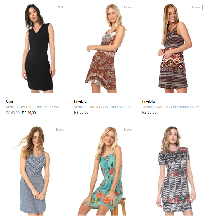 3 vestidos - Dafiti - 3 Vestidos por R$99