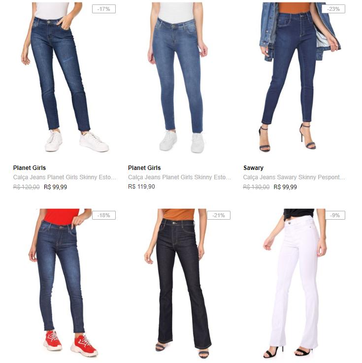 3CALCAS199FEM - Calças Jeans na Dafiti - 3 por R$199 👖👖👖