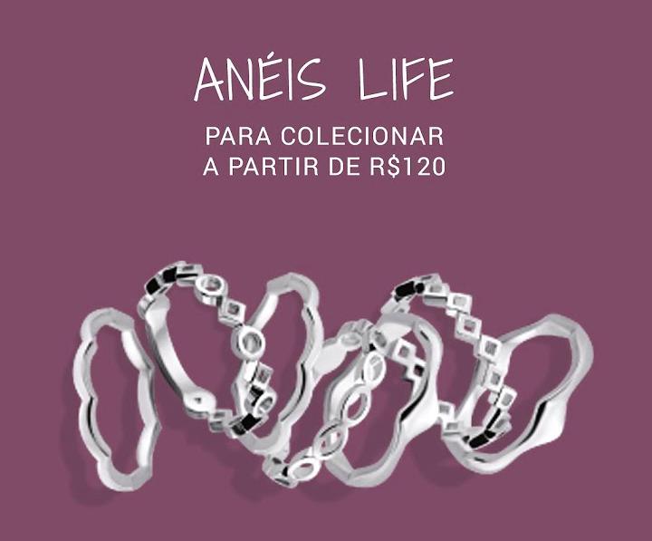aneis life - Vivara - Anéis Life para colecionar a partir R$120