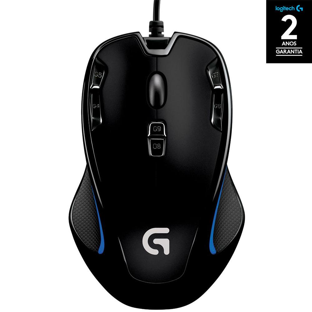 mouse gamer - Mouse Gamer G300s 2.500 DPI - Logitech G - R$59,99