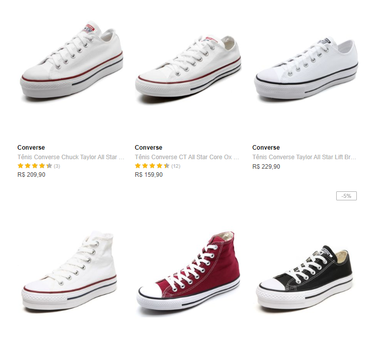 tenis converse all star - Tênis Converse All Star na Dafiti