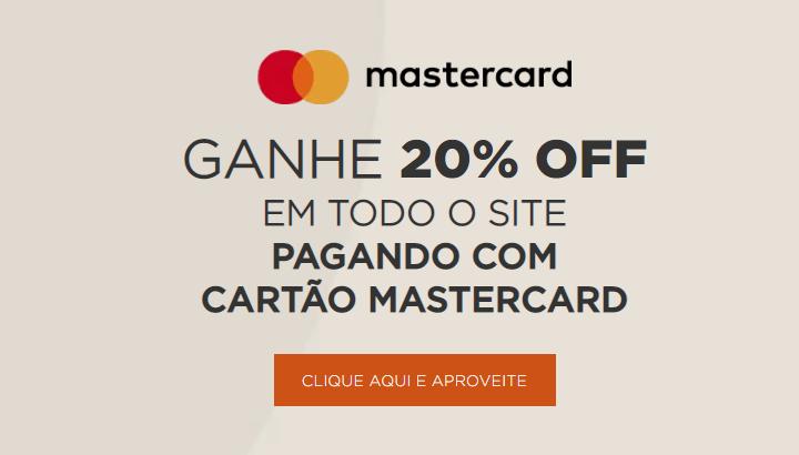 mastercard - Netshoes - 20% OFF pagando com Mastercard