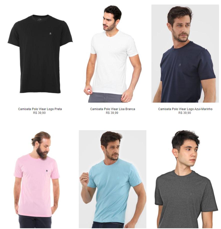 3CA89M - 3 Camisetas Básicas na Kanui por R$89 - 3CA89M