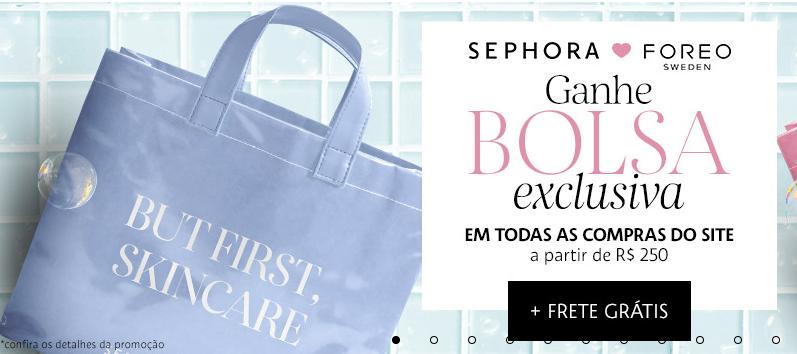 bolsa - Sephora - Ganhe uma bolsa nas compras acima de R$250