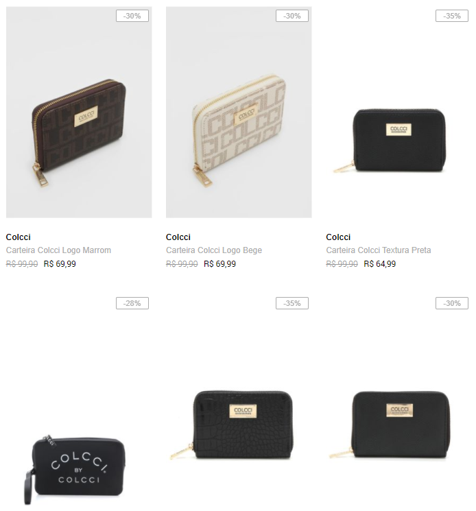 carteira colcci - Dafiti - Carteiras Colcci a partir de R$64,99