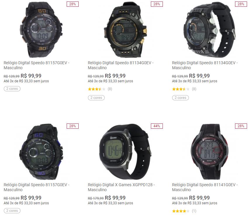 relogios - Centauro - Relógios por R$99,99