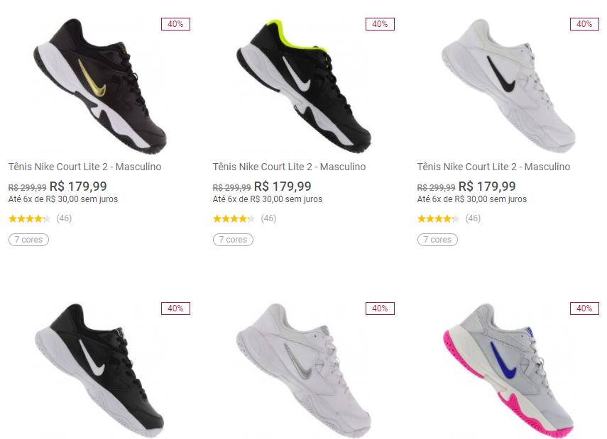tenis nike court lite 2 - Centauro - Tênis Nike Court Lite 2 - R$179,99