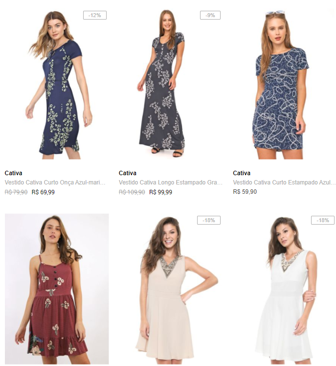 3 vestidos - Escolha 3 Vestidos por R$149 na Dafiti