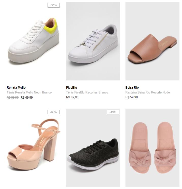3 calcados 149 - Dafiti - Escolha 3 Calçados por R$149