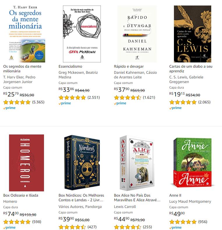 LIVROPRIME10 - Amazon - Cupom de 10% OFF em Livros