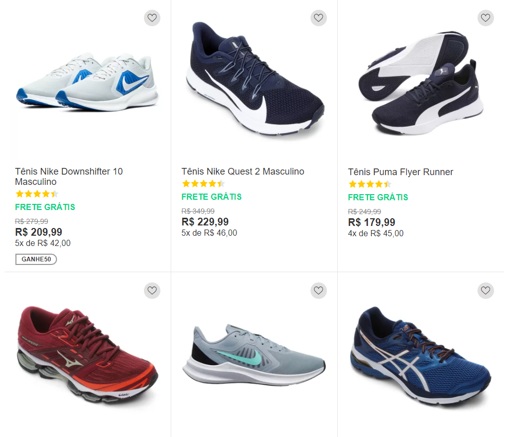 QUERO50 - Netshoes - Ganhe R$ 50 OFF - QUERO50