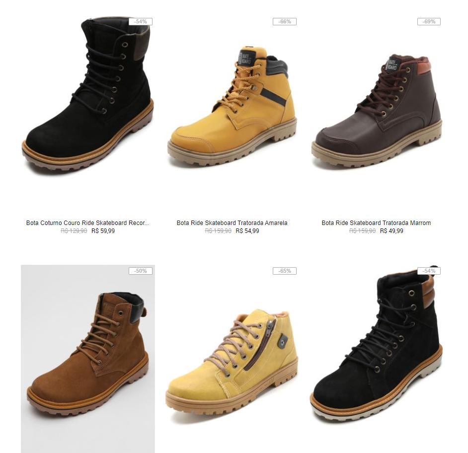 botas - Kanui - Botas Masculinas por até R$69,99