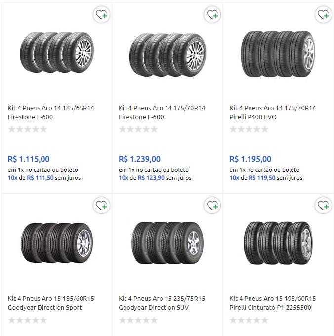 kit pneus - Carrefour - Cupom em Pneus - KITS10