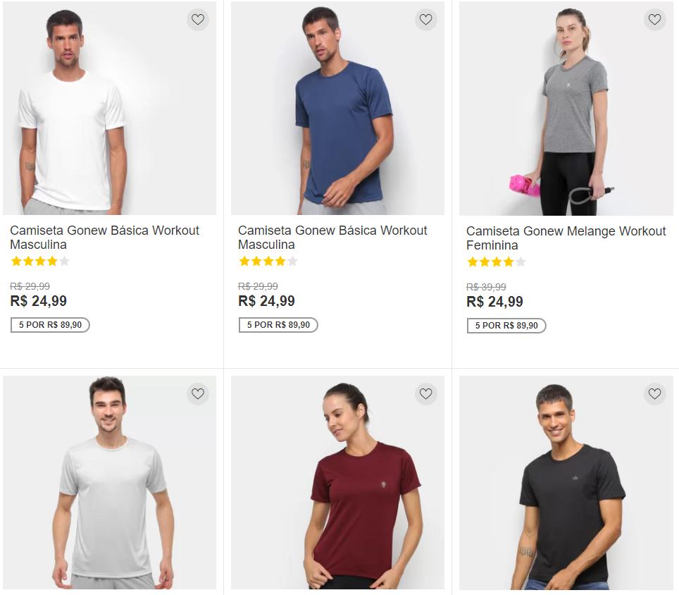 5 por 8990 - Netshoes - Compre 5 por R$ 89,90