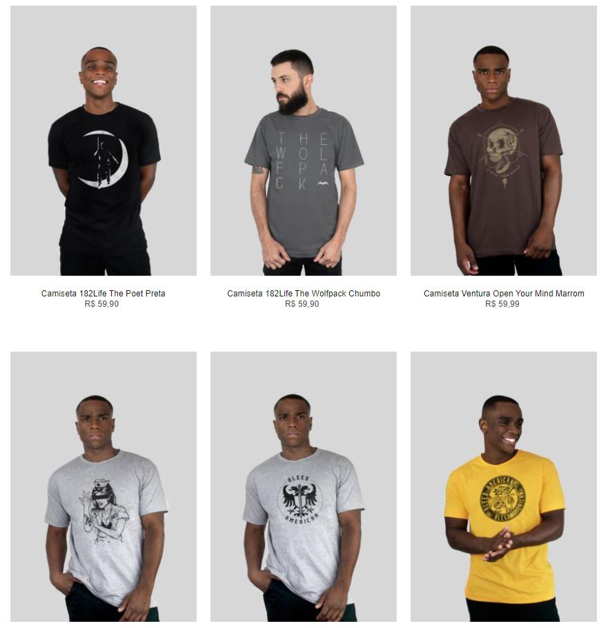 6CAM99A - Kanui - Black Friday - 6 Camisetas por R$99