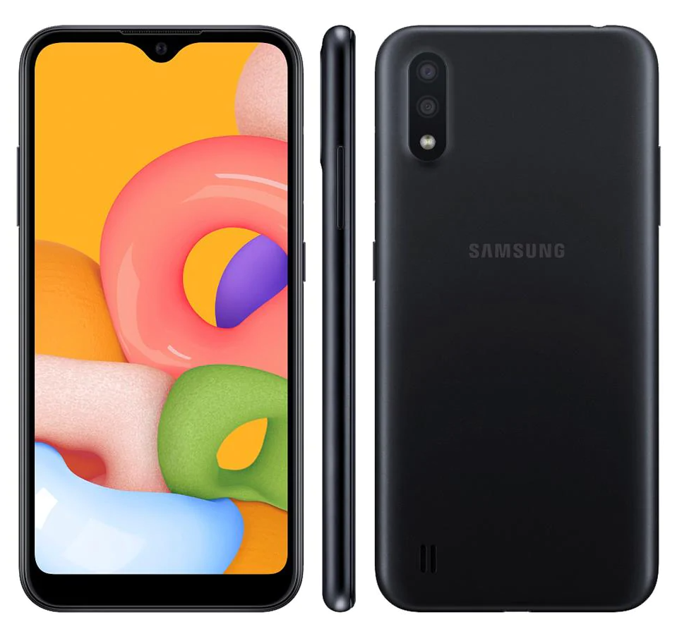 Smartphone Samsung Galaxy A01 - Smartphone Samsung Galaxy A01 Preto 32GB - 12x de R$66,58 sem juros