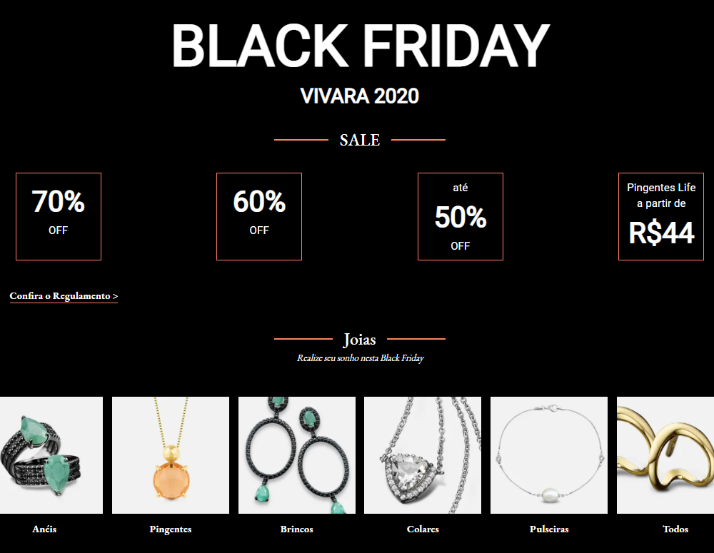 black friday 1 - Black Friday Vivara 2020 - Compre agora