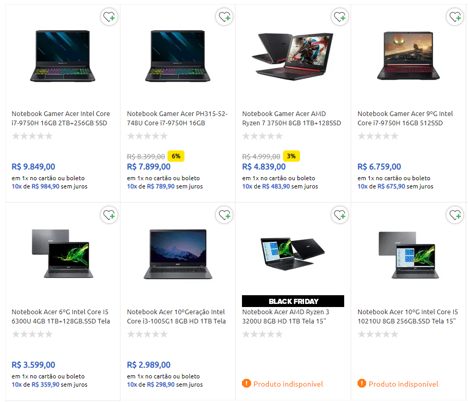 notebook acer - Carrefour - Notebook Gamer Acer Black Friday
