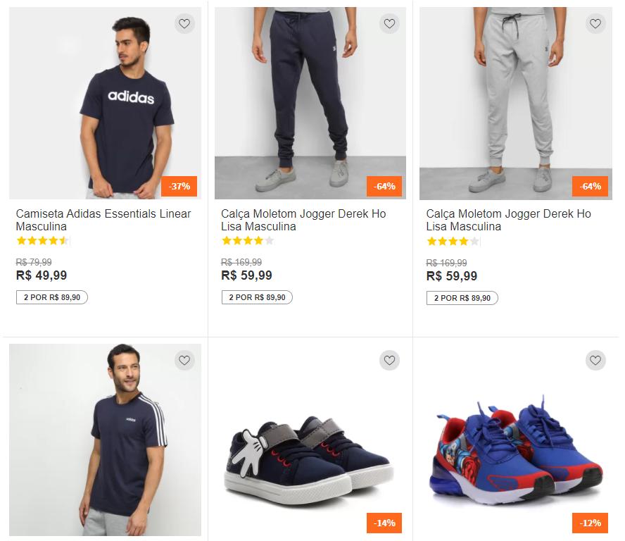 2 produtos 8990 - Netshoes - Escolha 2 Produtos por R$89,90