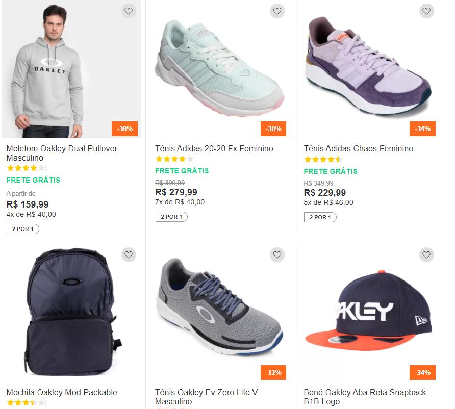 2por1 - Netshoes - Compre 2 pelo preço de 1