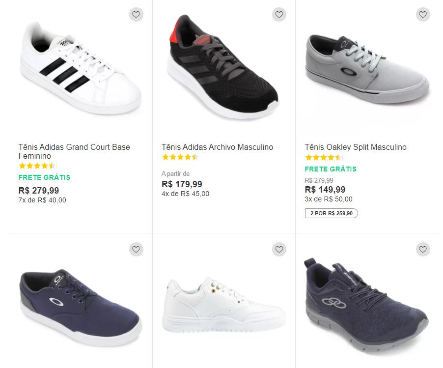 2por25990 - Netshoes - 2 Tênis por R$259,90