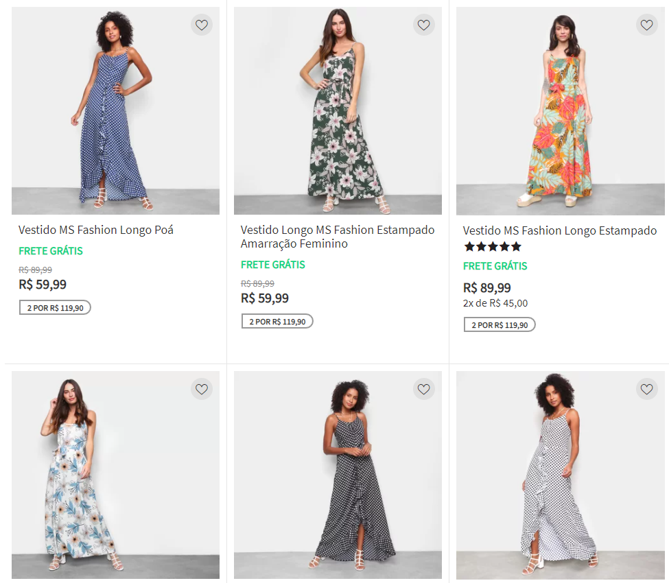 2vestidos11990 - Escolha 2 Vestidos por R$119,90 na Zattini