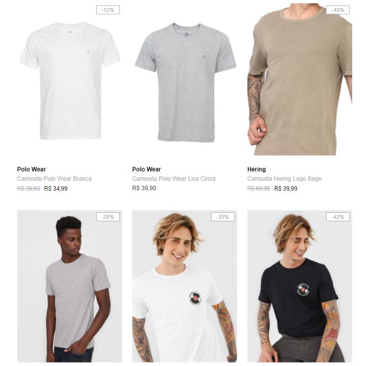 3 89 - Dafiti - 3 Camisetas por R$89
