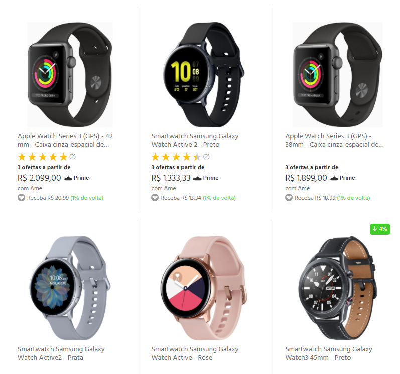 Smartwatch - Submarino - Smartwatch com até R$300 OFF