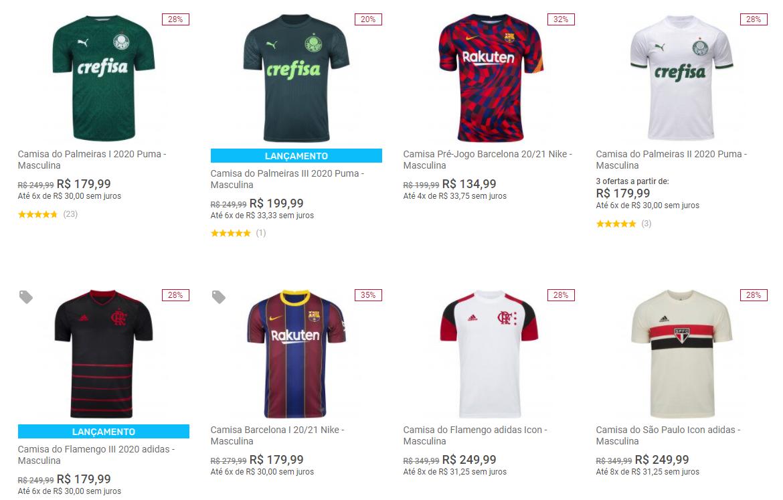 camisas black - Centauro - Camisas de Futebol com até 40% OFF