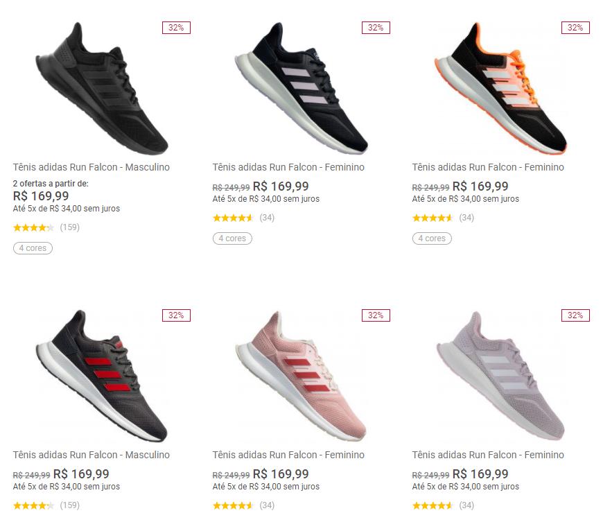 tenis adidas run falcon - Centauro - Adidas Run Falcon - R$ 169,99