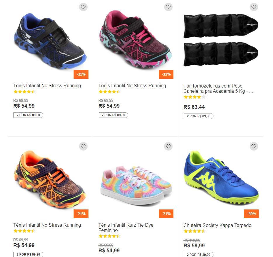 2 8990 - Netshoes - Escolha 2 Por R$89,90
