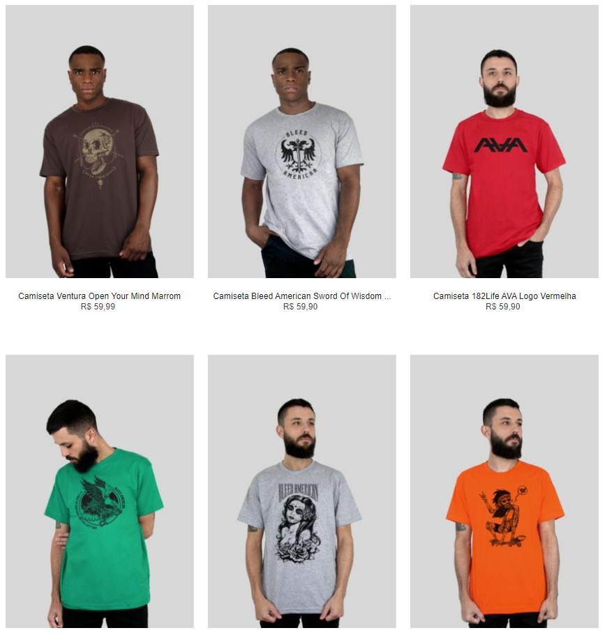 5CAM99A - Kanui - 5 Camisetas por R$99 - 5CAM99A