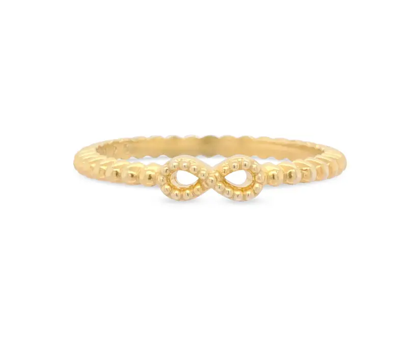 anel life - Vivara - Anel Life Infinito Com Banho Ouro Amarelo - R$119,00