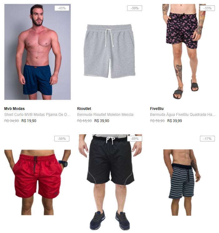 bermudas - Dafiti - Bermudas e Shorts a partir de R$ 39,90