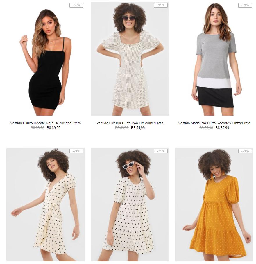 vestidos - Kanui - Vestidos até R$ 59,99